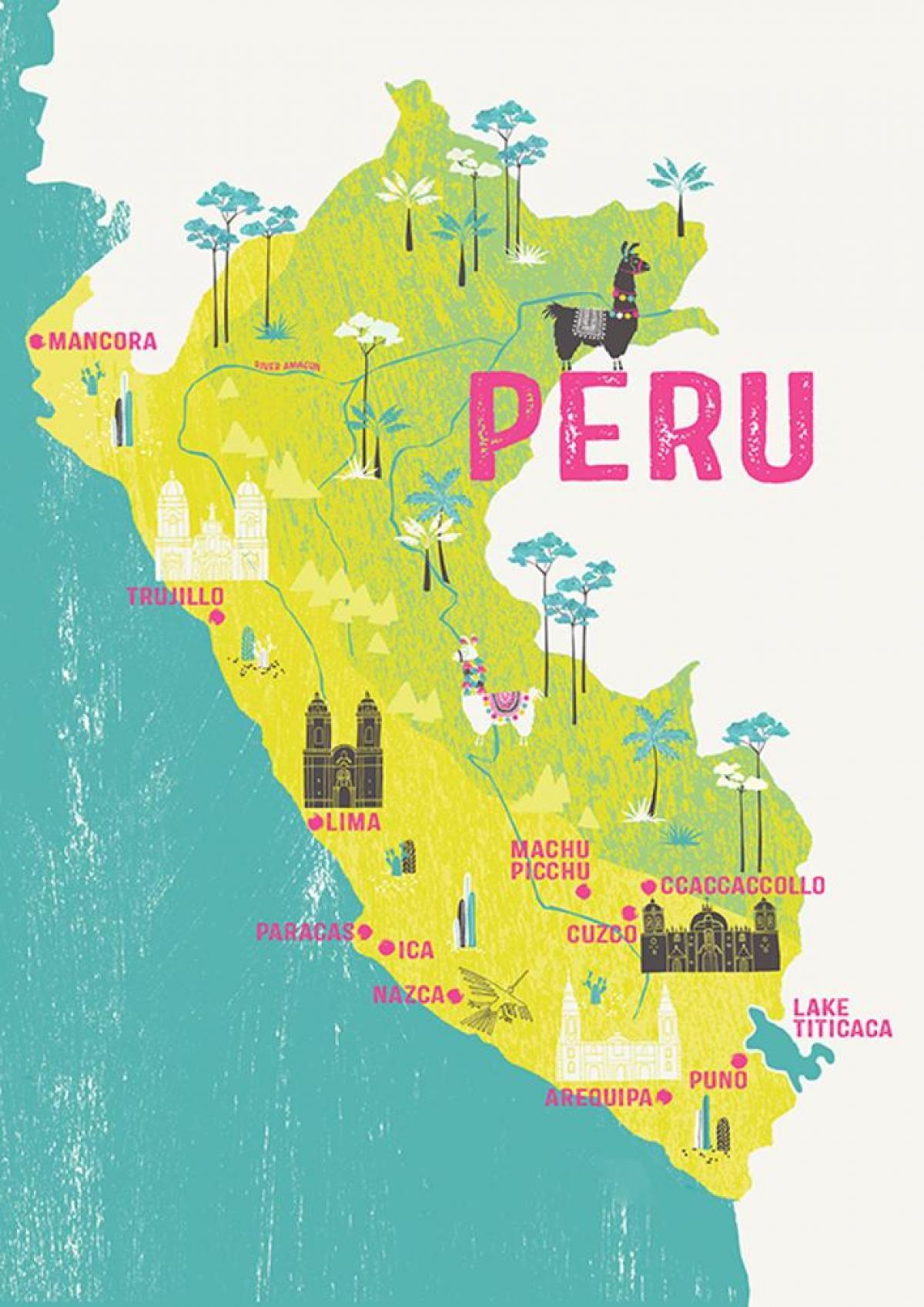 Kort Over Peru For Born Kort Over Peru For Born Syd Amerika