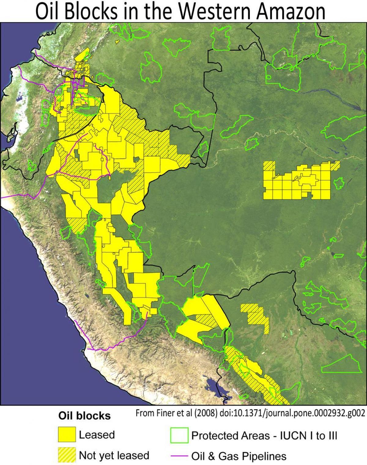 Perus Regnskov Kort Peru Amazon Regnskov Kort Syd Amerika