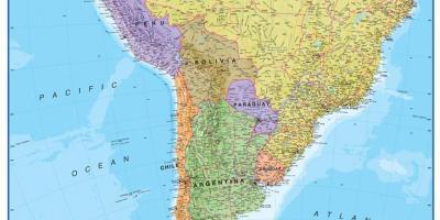 Peru Kort Kort Peru Sydamerika Nordamerika
